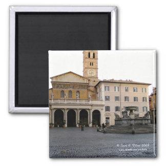 Santa Maria in Trastevere 2 Inch Square Magnet