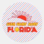 Santa María, la Florida la cañada Pegatinas Redondas
