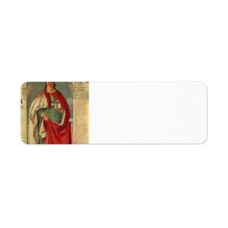 Santa María Magdalen Francisca del della de Piero Etiqueta De Remite