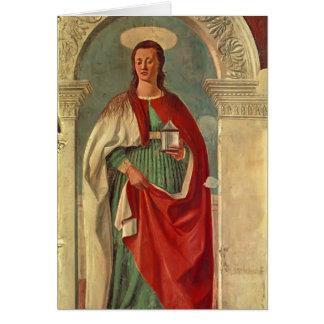Santa María Magdalen Francisca del della de Piero Felicitaciones