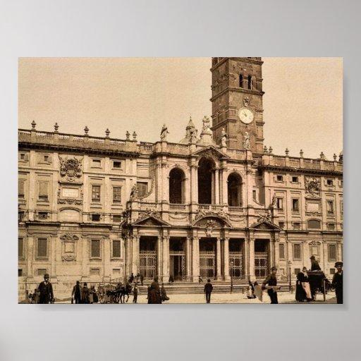Santa María Maggiore, obra clásica Photochr de Rom Posters