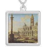 Santa Maria Maggiore, Rome, 1739 Square Pendant Necklace