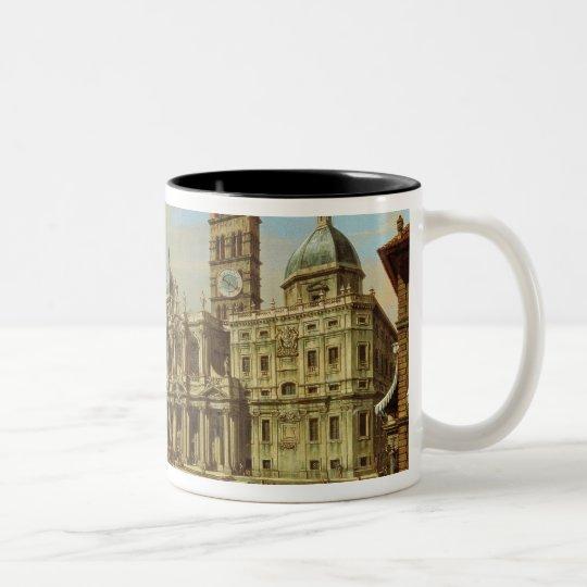 Santa Maria Maggiore, Rome, 1739 Two-Tone Coffee Mug