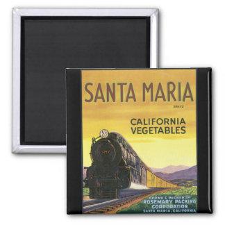 Santa Maria Refrigerator Magnets