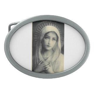 Santa María María Sagrada Gürtelschnalle Hebillas Cinturon Ovales