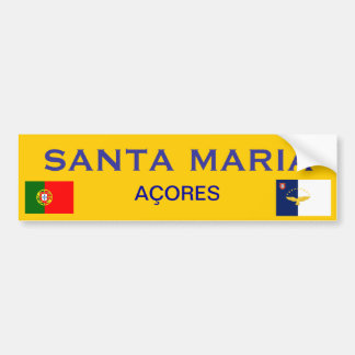 Santa María * pegatina para el parachoques Pegatina Para Coche