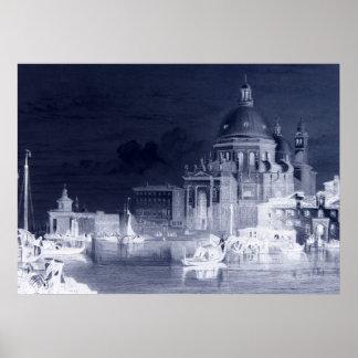 Santa Maria Plague Cathedral Venice Negative Art Poster