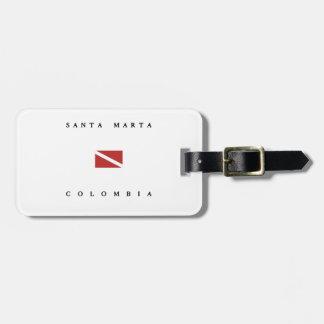 Santa Marta Colombia Scuba Dive Flag Bag Tag