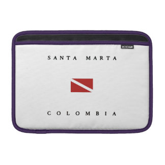 Santa Marta Colombia Scuba Dive Flag Sleeve For MacBook Air