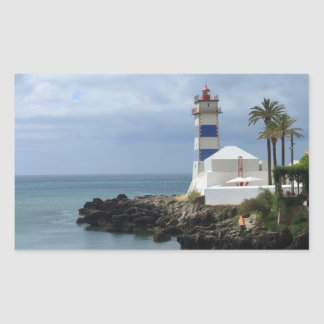 Santa Marta lighthouse Rectangular Sticker