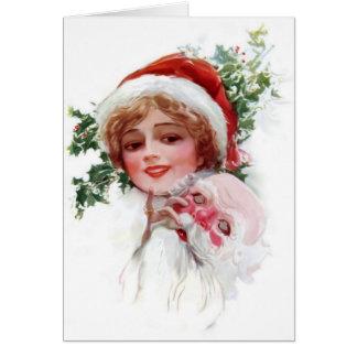 Santa Mask Card