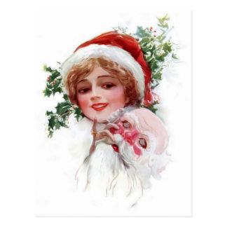 Santa Mask Postcard
