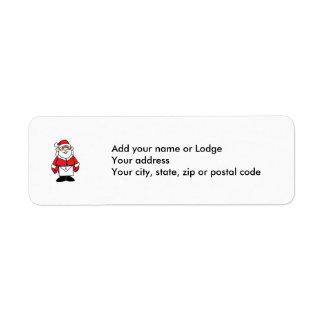 Santa Mason Label