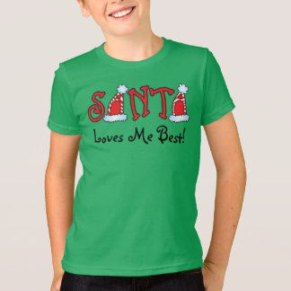 ¡Santa me ama mejor! Camisa del navidad de los
