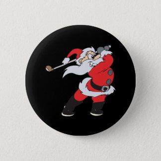 Santa Means Business Button