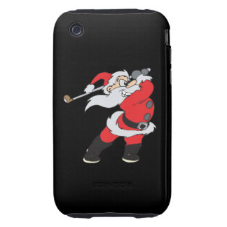 Santa Means Business Tough iPhone 3 Covers