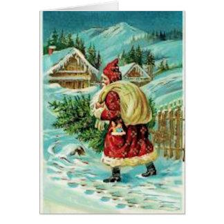 Santa Med Tree Cards