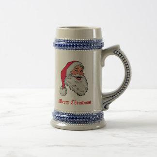 Santa Merry Christmas Beer Stein