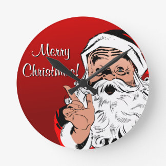 "Santa ""Merry Christmas!"" Clock"