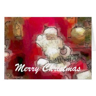 Santa, Merry Christmas Greeting Card