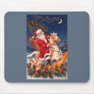 Santa Merry Christmas Mouse Pad