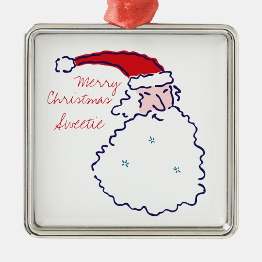 Santa Merry Christmas Ornament