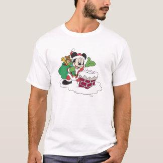 Santa Mickey que va abajo de la chimenea Playera