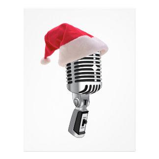 "santa microphone 8.5"" x 11"" flyer"