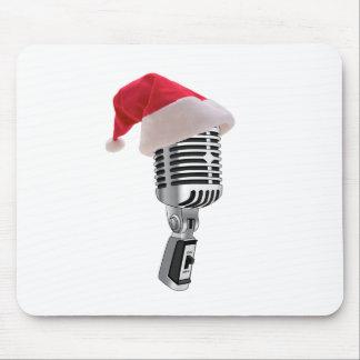 santa microphone mouse pad