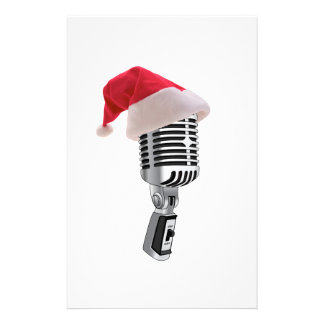 santa microphone stationery