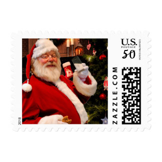 Santa Milk and Cookies postage stamp