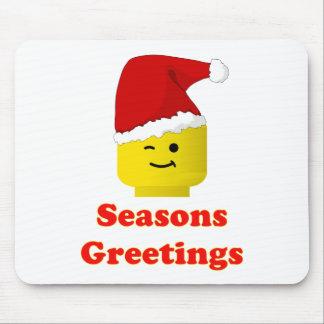 Santa Minifig sazona saludos Alfombrillas De Raton