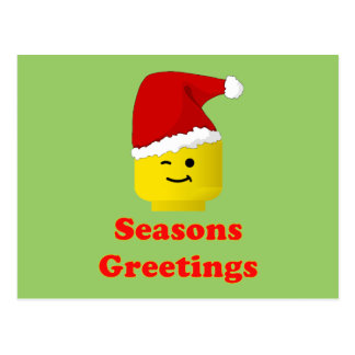 Santa Minifig Seasons Greetings Postcard