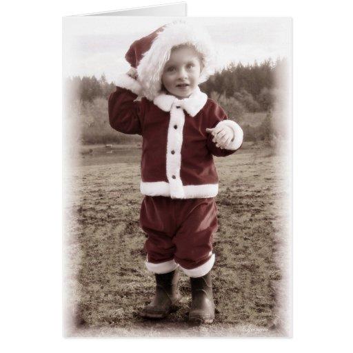 Santa minúsculo 3 tarjetas