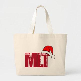 Santa MLT - CHRISTMAS MEDICAL LABORATORY TECH Tote Bags