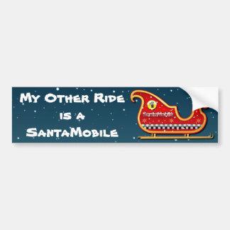 Santa-Mobile - The Reindeer-less Sleigh Bumper Sticker