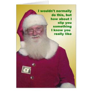 Santa Money Enclosed Card