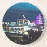 Santa Monica at Night Beverage Coaster