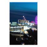 Santa Monica at Night Customized Stationery