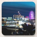 Santa Monica at Night Drink Coaster