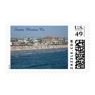Santa Monica Beach California Postage Stamp