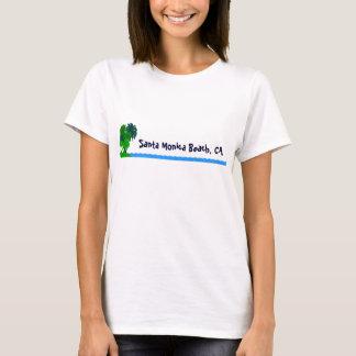 Santa Monica Beach Custom Palm Tree Ocean Shirt