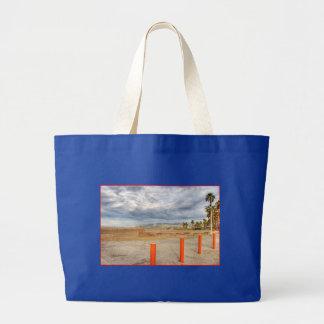"""Santa Monica Beach"" Jumbo Tote Jumbo Tote Bag"