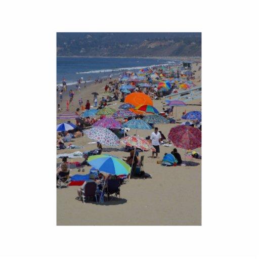 Santa Monica Beach People Standing Photo Sculpture