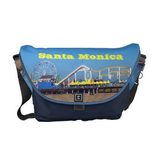 Santa Monica Beach Pier Ferris Wheel Courier Bag