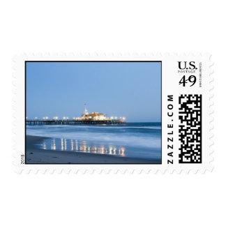 Santa Monica beach Postage