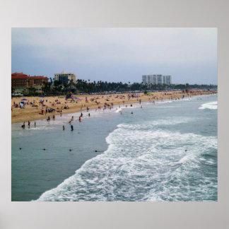 SANTA MONICA BEACH print