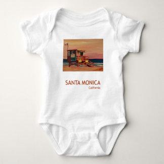 Santa Monica Beach Retro Poster Infant Creeper
