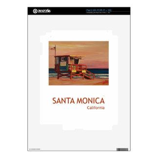 Santa Monica Beach Retro Poster Skin For iPad 2