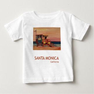 Santa Monica Beach Retro Poster T-shirt